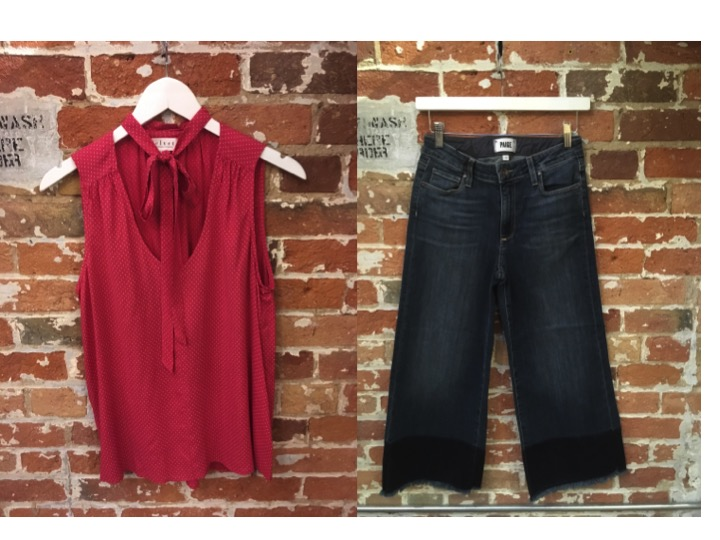 Velvet Bow Tank $148 Paige Cropped Flare $345