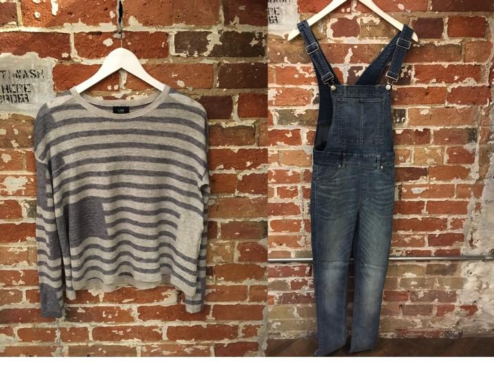 Line Linen Stripe Sweater $185 Cheap Monday Denim Overalls $105