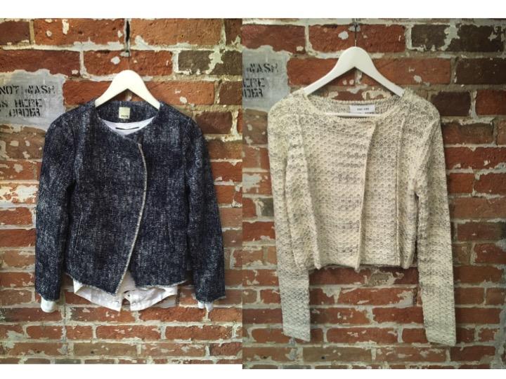 Ecru Jacket $398 Line Knitted Jacket $225