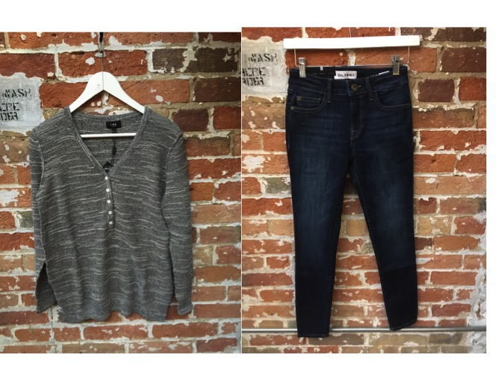 Line Henley $185 DL1961 Margaux Jeans $265