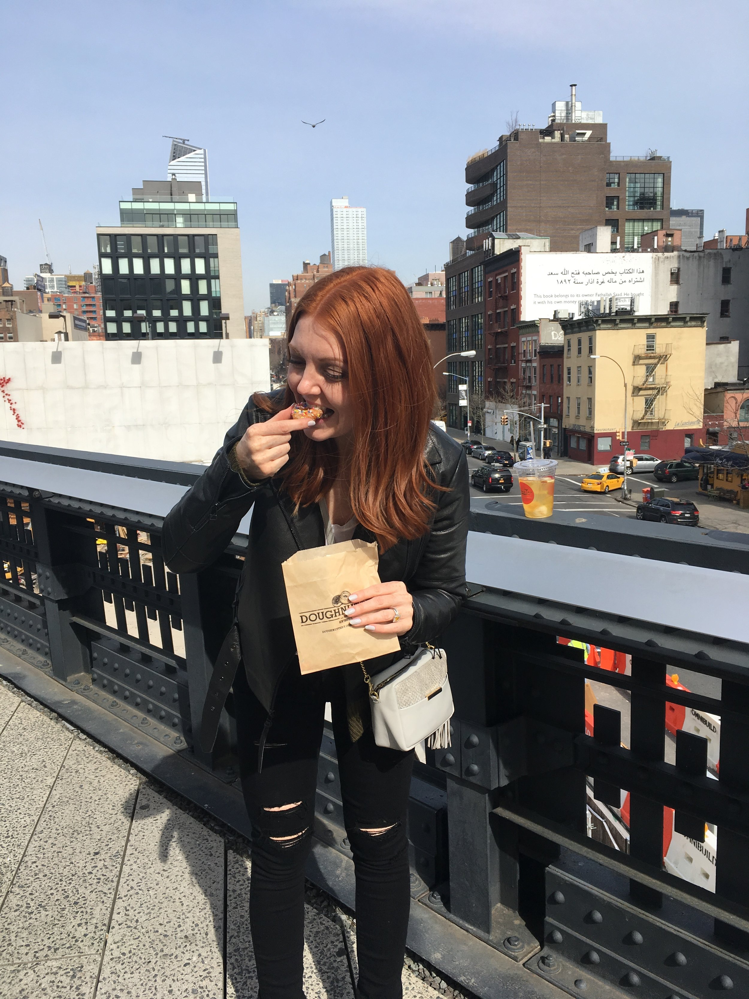 We love donuts On Charlotte: Tiger of Sweden Leather Jacket, Opelle Purse, Paige Jeans