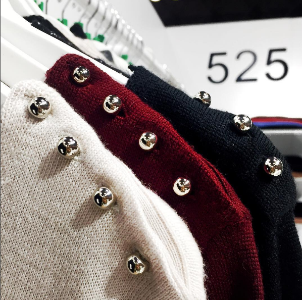 One of the things we were hunting for was exciting sweaters. 525 America seemed to bring what we were looking for.What types of sweaters do you want to see for next season?
