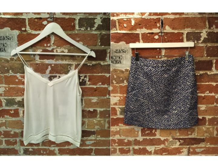 Suncoo Camisole $125 Suncoo Textured Mini Skirt $155