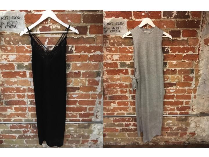 Suncoo Black Midi Dress $225 Cheap Monday Side Tie Dress $70