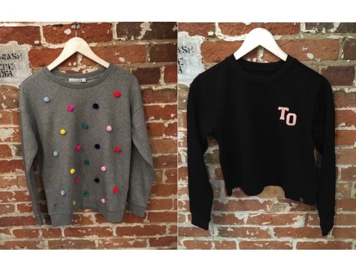 South Parade Pom Pom All Over Sweatshirt $169 Peace Collective Girl's Only Cropped Sweatshirt $70