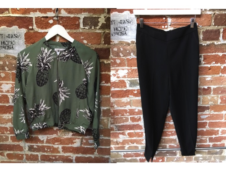 BB Dakota Pineapple Bomber Jacket $138 Ted Baker Fancy Jogger $265