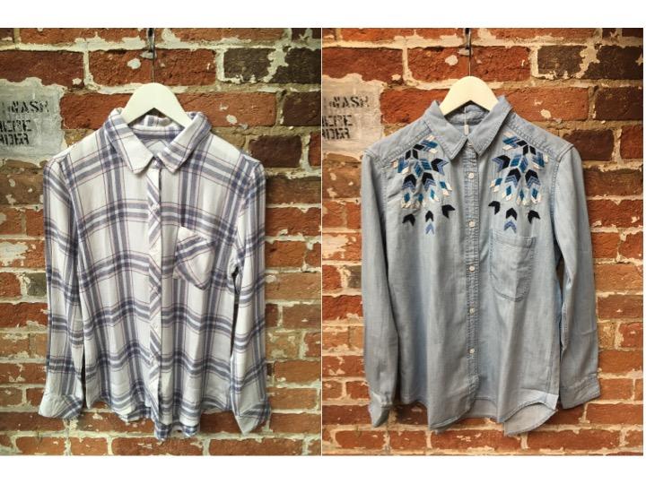 Rails Flannel Shirt $215 Rails Embroidered Denim Shirt $270