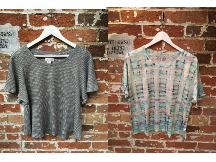 Velvet Thermal Knit Tee $140 FINE Tye Dye Tee $95