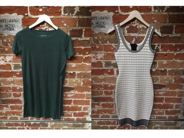 FINE Collection Side Slit T-Shirt Dress $145 John & Jenn Knit Bodycon Dress $199