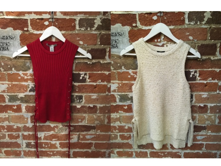 Autumn Cashmere Lace Up Tank $175 Line Sleeveless Knit Tank $185