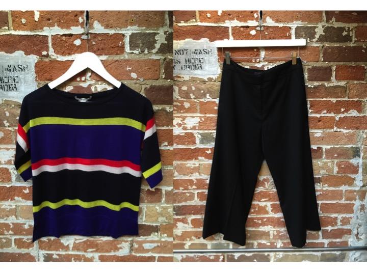 Autumn Cashmere Stripe Cashmere Sweater $330 James Jeans Culottes $295