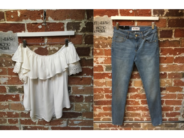Muche et Muchette Off The Shoulder Top $148 DL1961 Emma Jean $265 Ruffles are everywhere! How do you rock yours?