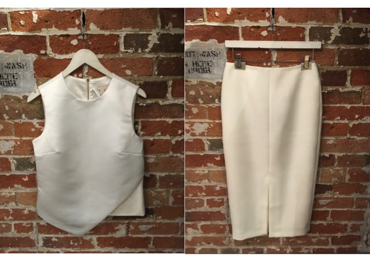 Ted Baker Asymmetrical Top $219 Ted Baker Pencil Skirt $305