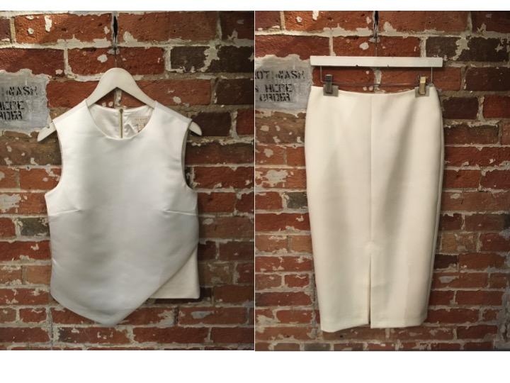Ted Baker Asymmetrical Top $219 Ted Baker Pencil Skirt $305