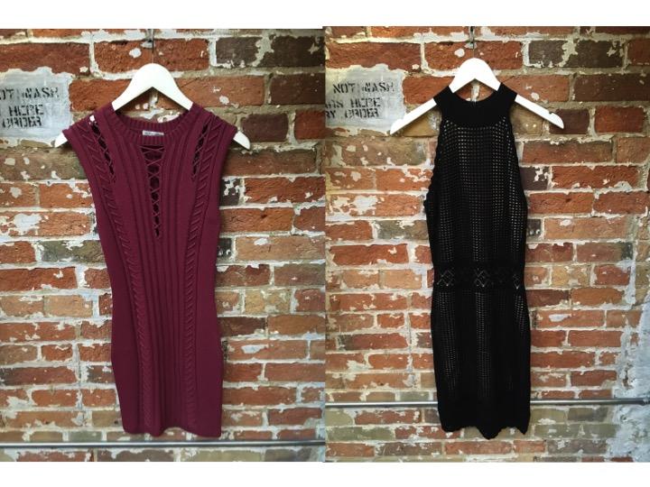 Ronny Kobo Knit Dress $398 John & Jenn Halter Knit Dress $199