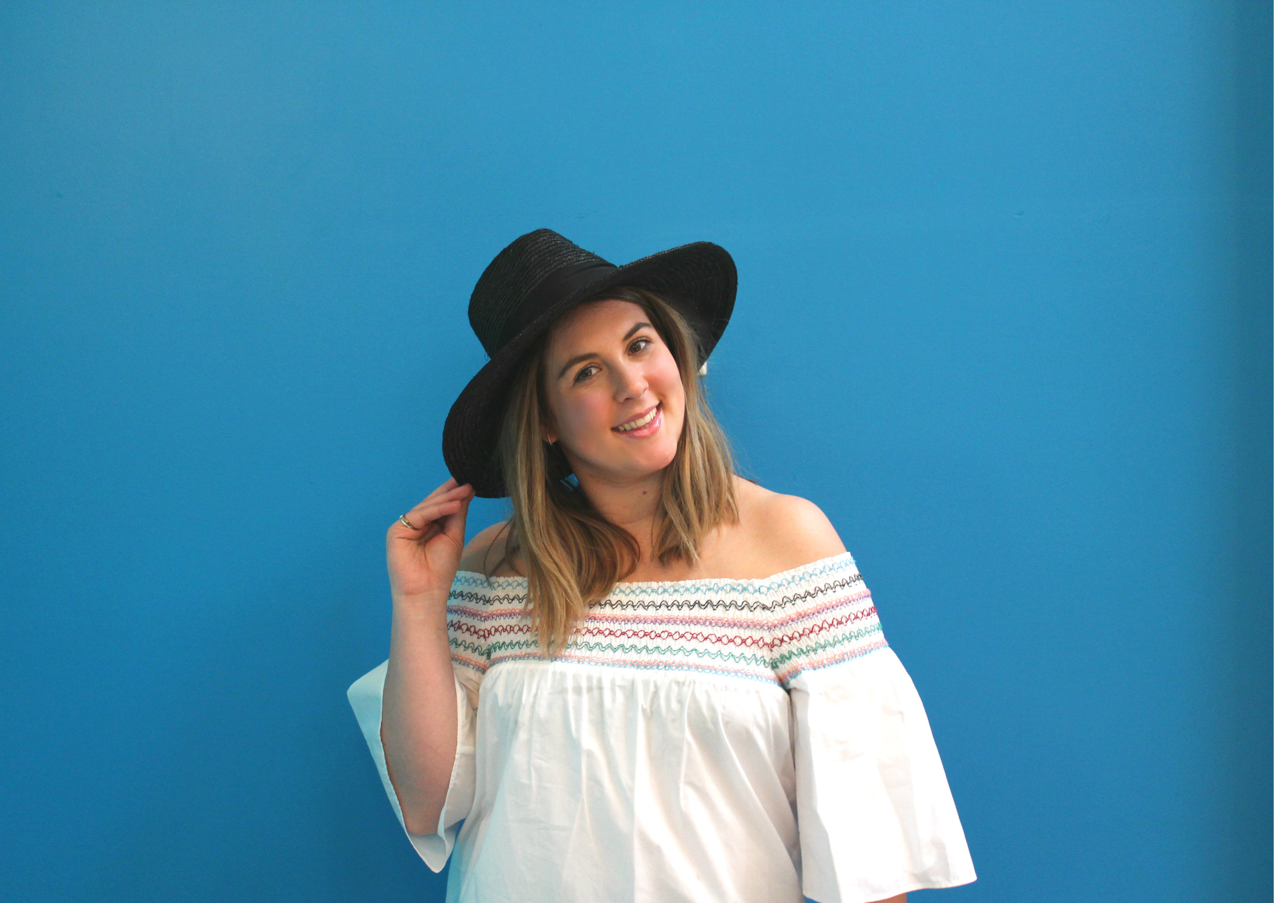 Parker Off The Shoulder Top $198 Brixton Straw Hat $55