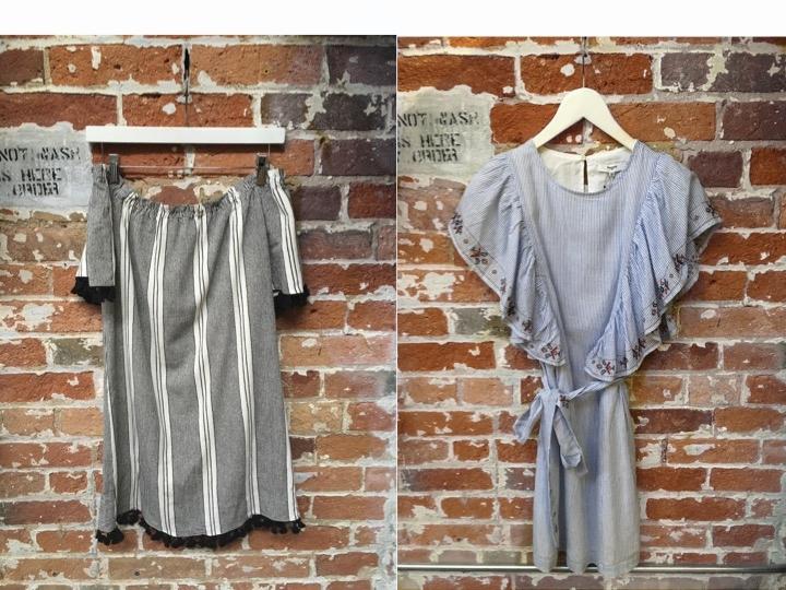 Heartloom Off the Shoulder Tassel Dress $158 Suncoo Dress $185