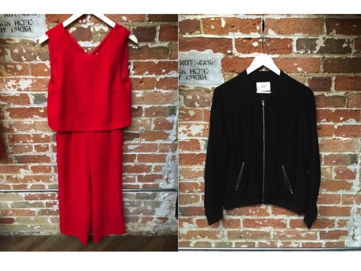 Just Female Jumpsuit $178 Just Female Bomber Jacket $168