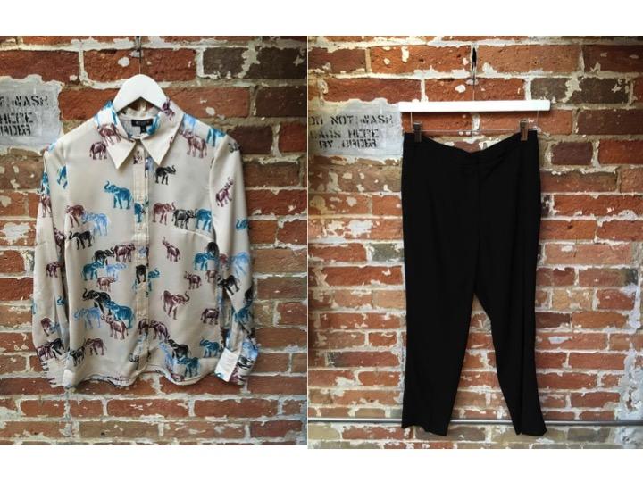 Tiger of Sweden Printed Silk Blouse $229 Tiger of Sweden Muna Trouse $299