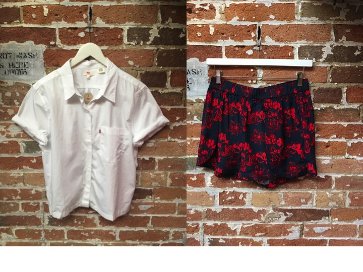 Levi's Classic Button Up $70 Just Female Printed Shorts $98