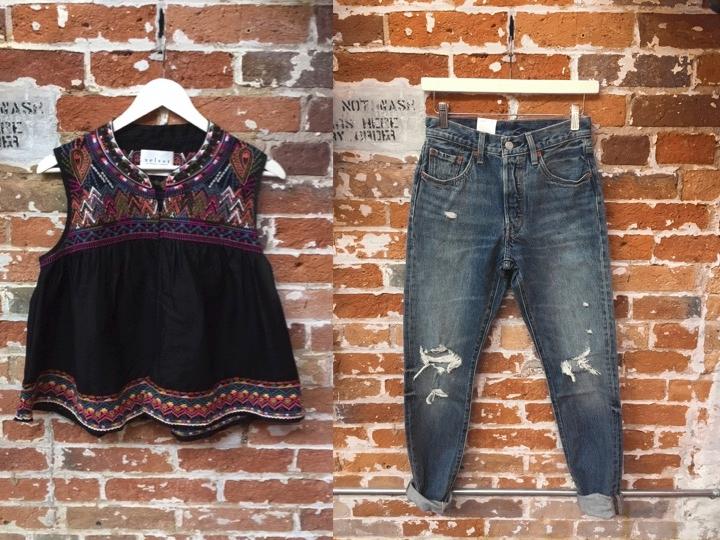 Velvet Embroidered Tank $240 Levi's High Rise Skinny Jeans $128