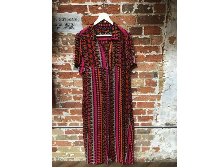 Maison Scotch Long Printed Dress $160 - we add this bad boy in even though there's one left - it sold quick, can you be quicker?