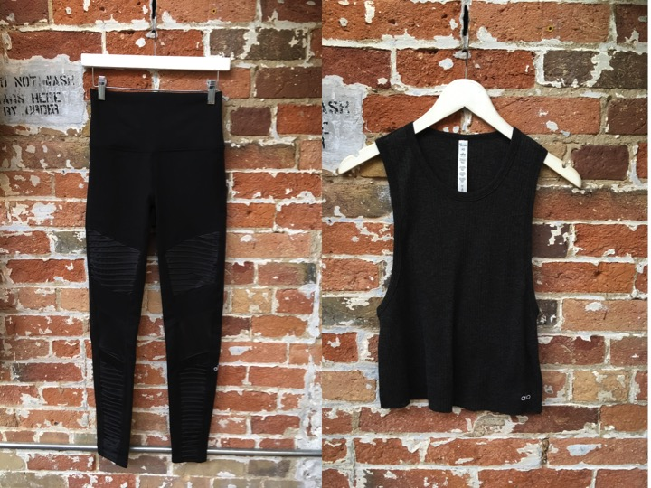 Alo Moto Leggings $175 Alo Air Tank $74
