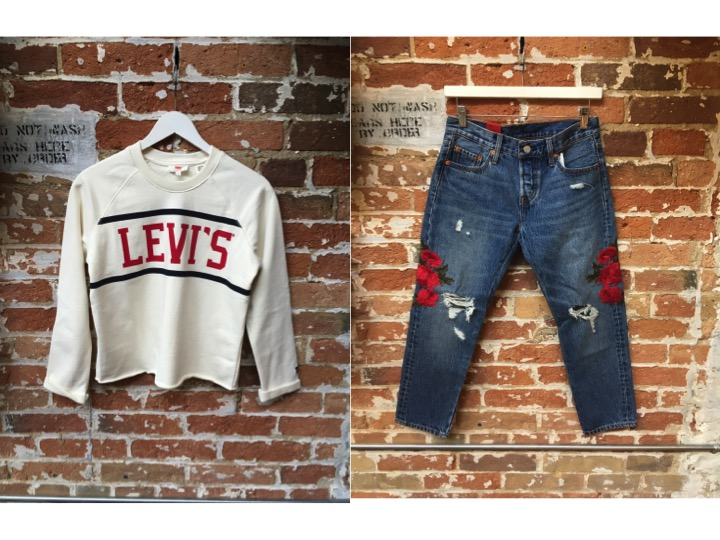 Levi's Cropped Sweater $80 Levi's Embroidered 501CT $148
