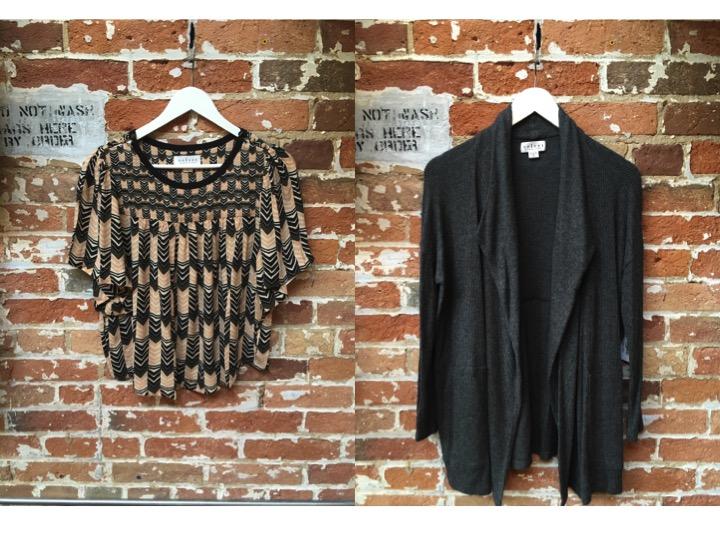 Velvet Art Deco SS Blouse $215 Velvet Open Cozy Rib Cardigan $226