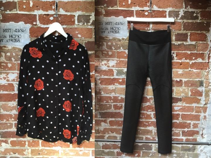 Diesel Rose Print Blouse $198 Dutch Blonde Leggings $115