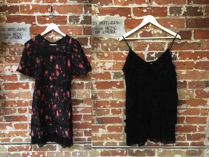 FoxieDox Floral Dress $250 Parker Velvet Burnout Mini Dress $348