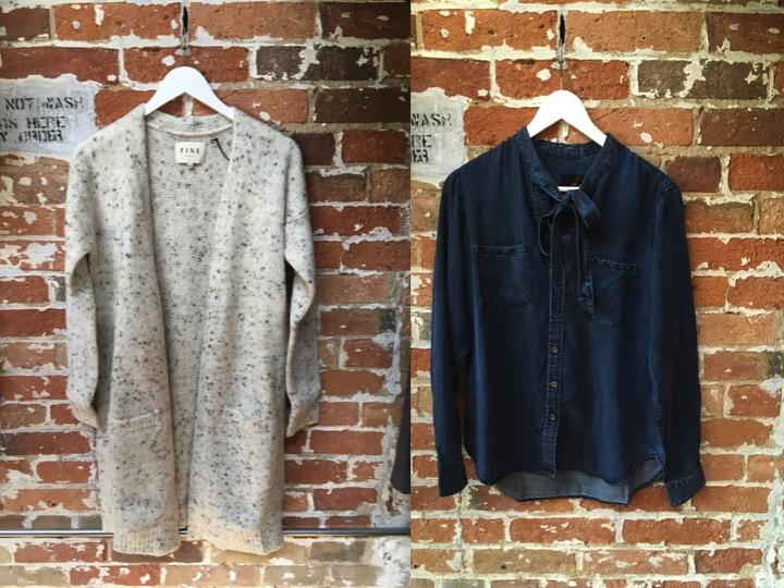 FINE Collection Long Cardigan $305 Rails Vintage Denim Blouse $248