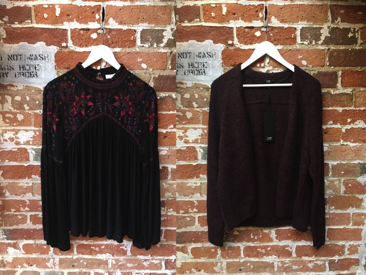 Parker Embroidered Boho Blouse $298 Line Open Cardigan $199