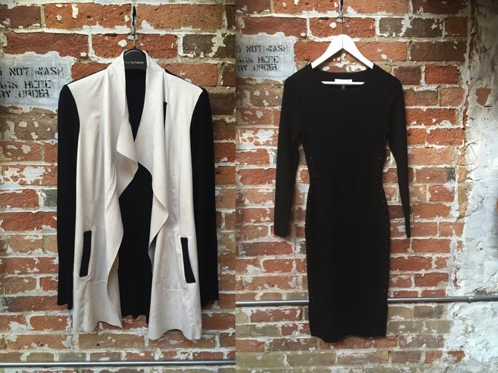 Iris Setlakwe Suede Combo Jacket $385 John & Jenn Zoe Midi Dress $249