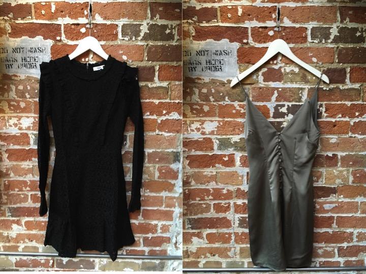 Suncoo Lace Dress $280 Finders Keepers Silk Dress $195