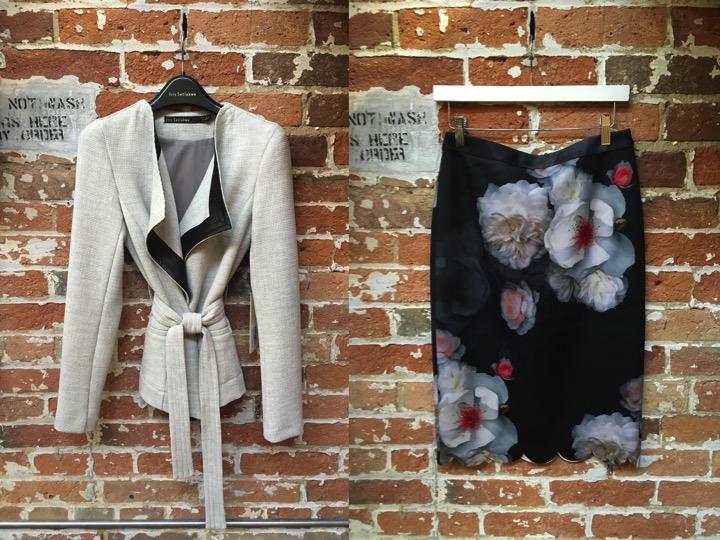Iris Setlakwe Kimono Blazer $465 Ted Baker Floral Pencil Skirt $249