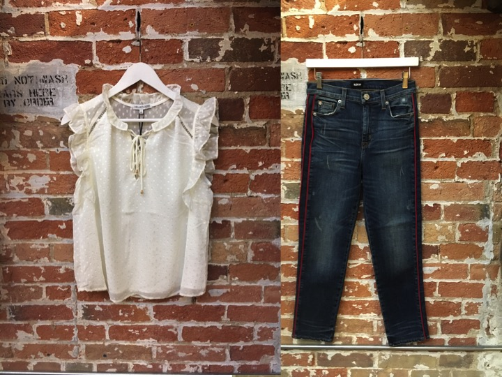 Heartloom Blouse $135 Hudson Zoe Jeans $300
