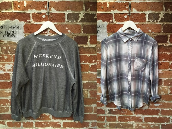 Wildfox Sweatshirt $160 Rails Hunter Plaid $215