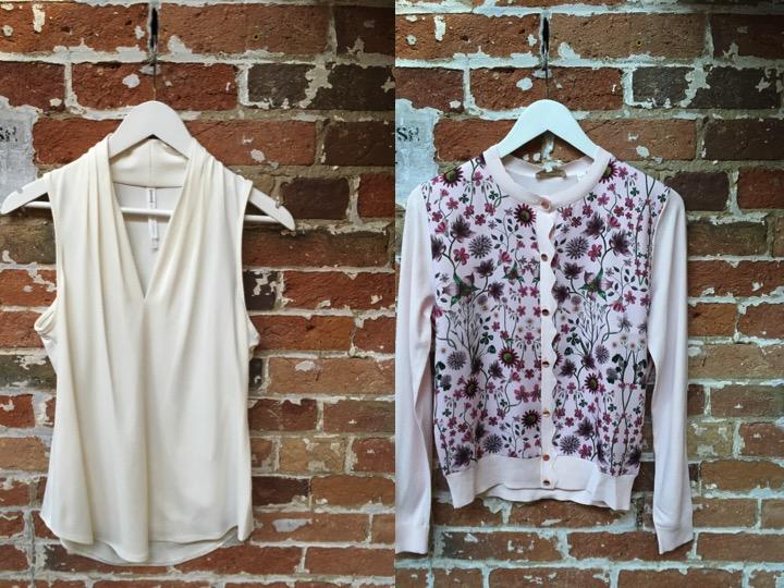 Iris Setlakwe Sleeveless Jersey Blouse $145 Ted Baker Silk Printed Cardigan $249