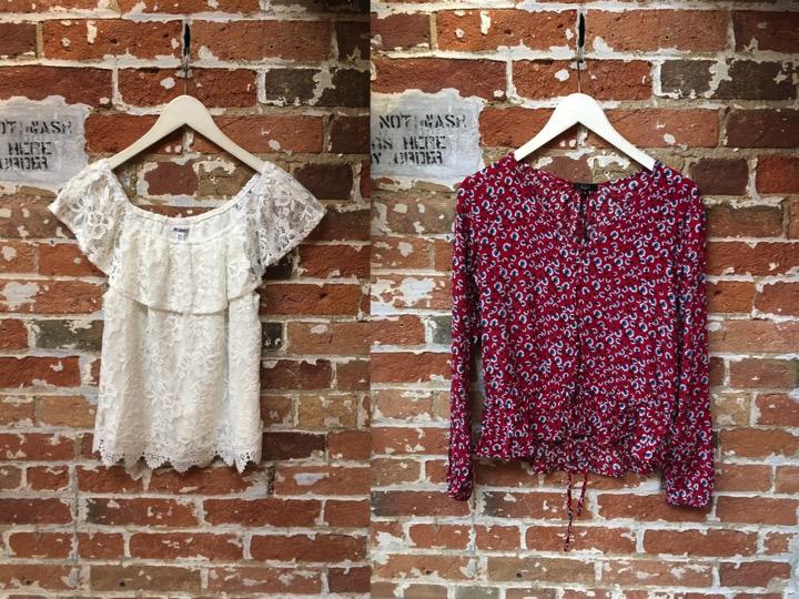 BB Dakota Zahara Off The Shoulder Top $99 Rails Beaux Floral Top $229