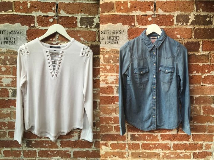 Generation Love Lace Up LS $238 Levi's Denim Shirt $80