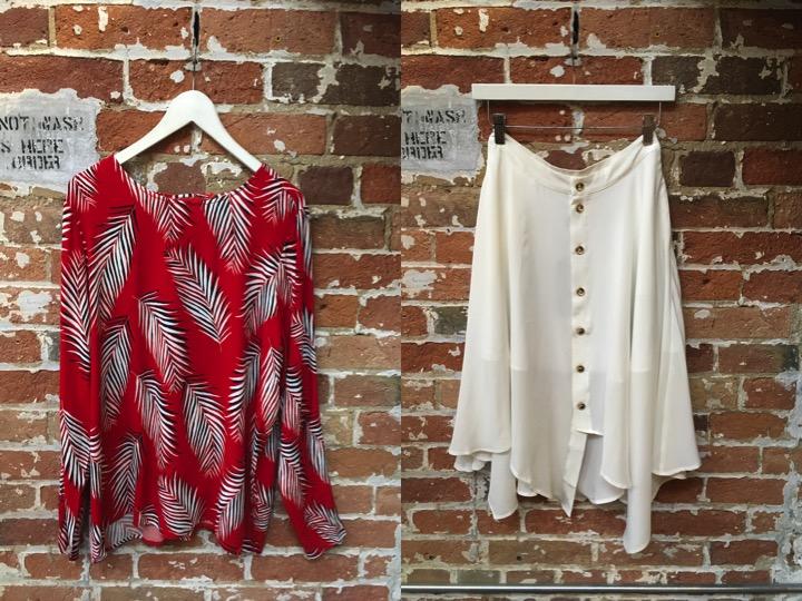 Just Female Palm Blouse $145 La Marque Midi Skirt $255