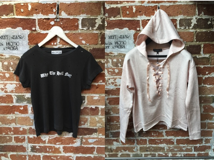 Wildfox Burnout Tee $105 Generation Love Lace Up Hoodie $220