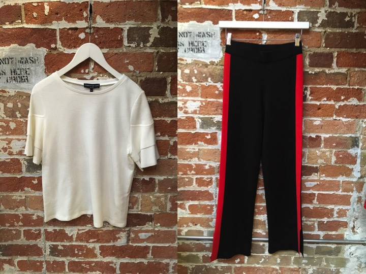 Generation Love Ruffle Sleeve Tee $168 Just Female Track Pant $185