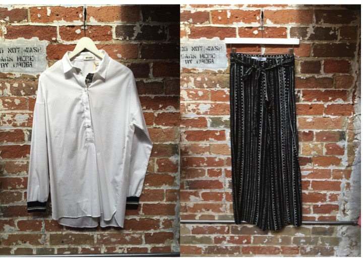 Mos Mosh Tunic with Sleeve Detail $230 Cupcakes & Cashmere Wide Leg Pant $145