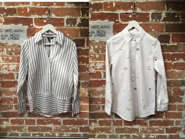 Rails Striped Blouse $220 Maison Scotch Embellished Button Down $149