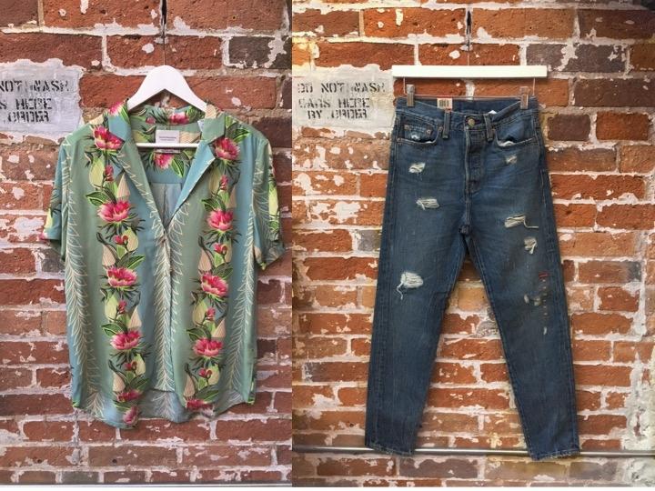 Maison Scotch Poolside Shirt $125 Levi's Wedgie Jean $108