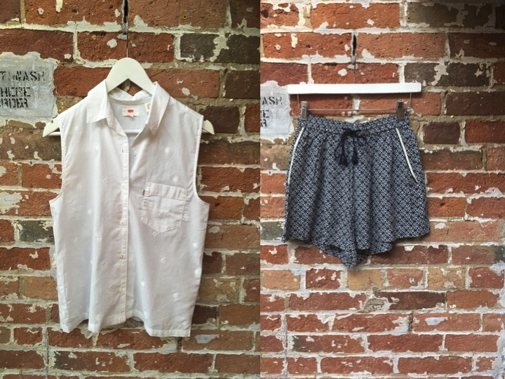 Levi's Palm Tree Top $70 Suncoo Printed Shorts $130