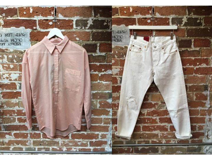 Line Silk Shirt $149 Levi's 501 Crop Jean $118