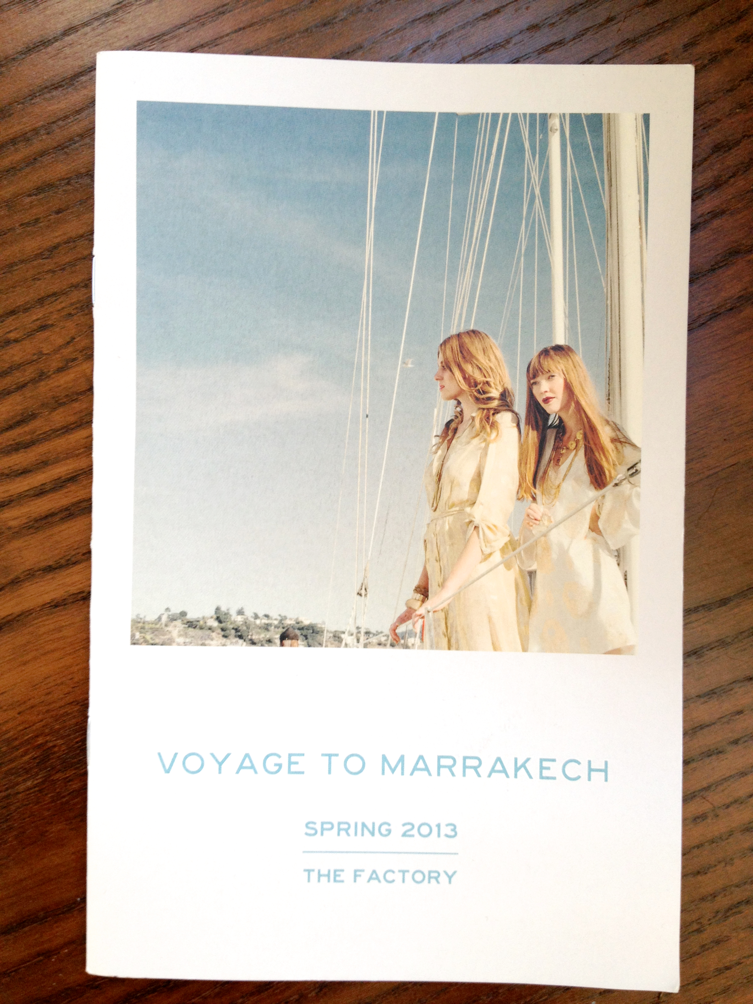 Voyage to Marrakech -  The Factory  Lookbook, Spring '13